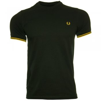 Fred Perry T Shirt Crew Neck Black