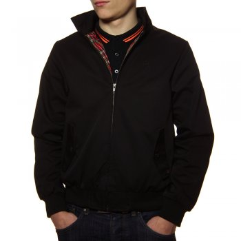Merc London Harrington Casual Jacket in Black