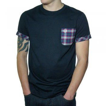 Fred Perry M1203 Woven Pocket Navy T shirt