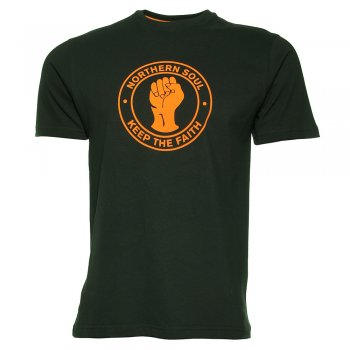 Northern Soul Keep the Faith T Shirt in Black