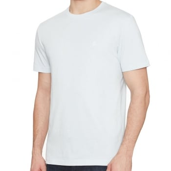 Original Penguin Pin Point Embroidered Logo T Shirt in Pastel Blue