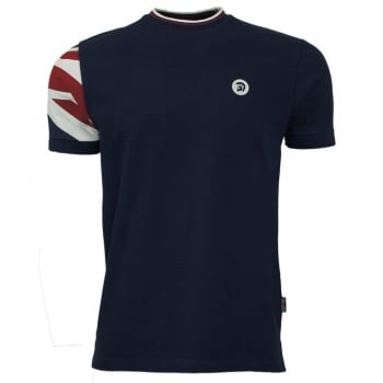 Union Jack T Shirt in Union Blue