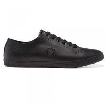 Fred Perry Kingston Leather Pumps in Black