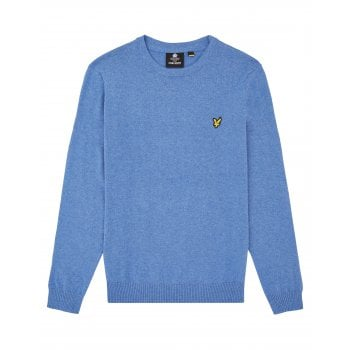 Crew Neck Merino Jumper Cornflower Blue Marl