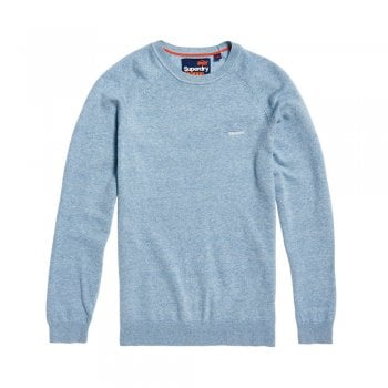 Superdry Orange Label Cotton Crew Parched Blue Grit | Superdry
