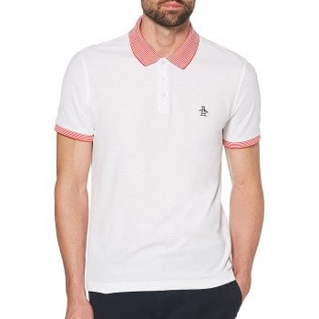 Original Penguin Stars and Stripes Polo in Bright White