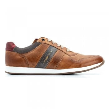 Base London Eclipse Softy Leather Trainers in Tan