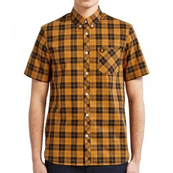 Fred Perry Tartan Shirt in Black