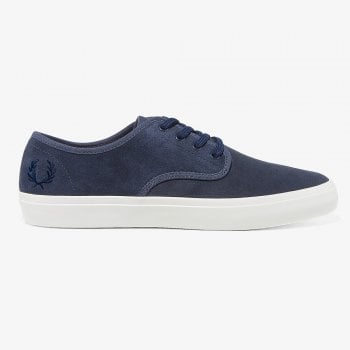 Fred Perry Merton Suede Trainer in Dark Airforce