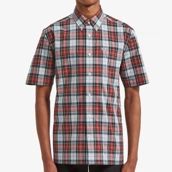Fred Perry Satuarated Tartan Shirt in Light Blue