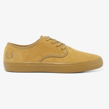 Fred Perry Merton Suede Trainer in Desert