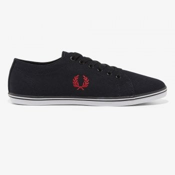 Fred Perry Kingston Twill Pumps in Black