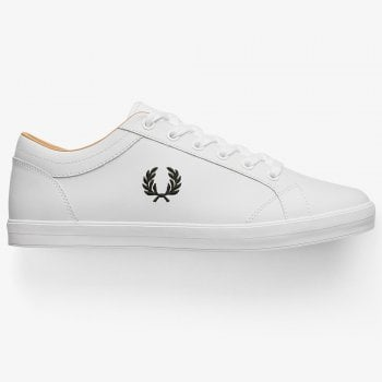 Fred Perry Baseline Leather Pumps in White