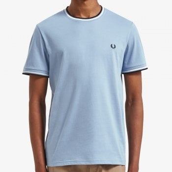 Fred Perry Twin Tipped T Shirt in Sky