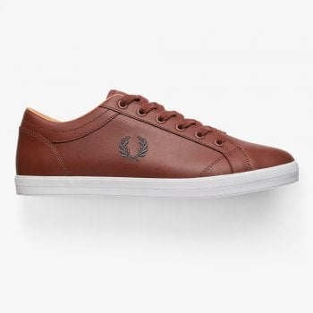 Fred Perry Baseline Leather Pumps in Tan