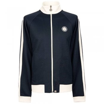 Pretty Green Contrast Panel Track Jacket in Navy