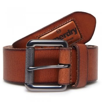 Superdry Badgeman Tan Belt