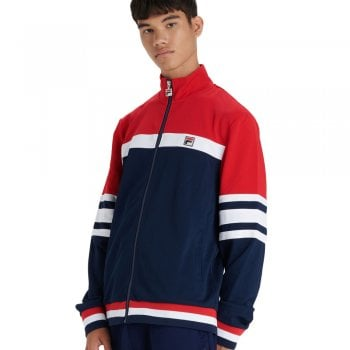 Fila Courto Cut And Sow Archive Track Top Peacoat / Chinese Red / White