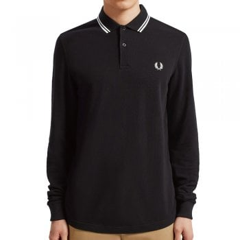 Fred Perry Long Sleeve Twin Tipped Shirt Black