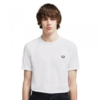 Fred Perry Ringer T Shirt in White
