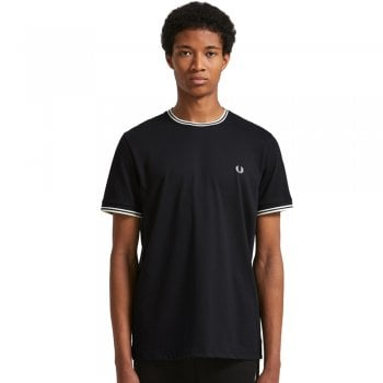 Twin Tipped T Shirt in Black