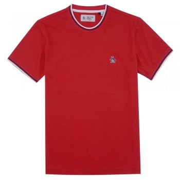 Original Penguin Sticker Pete Tee in High Risk Red