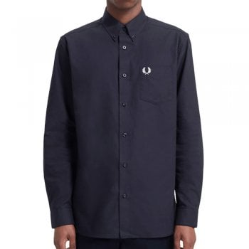 Fred Perry Classic Button Down Oxford Shirt in Navy