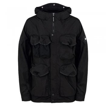 Weekend Offender Cotoca Black Parachute Fabric Jacket