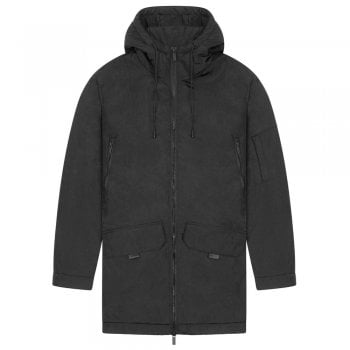 Lyle and Scott Casuals Wadded Longline Parka in Black