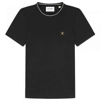 Casuals Tipped T-shirt in Black