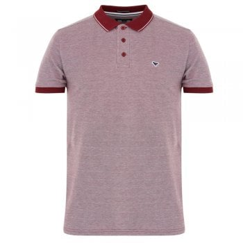 Weekend Offender Sonny Burgundy/White Polo Shirt