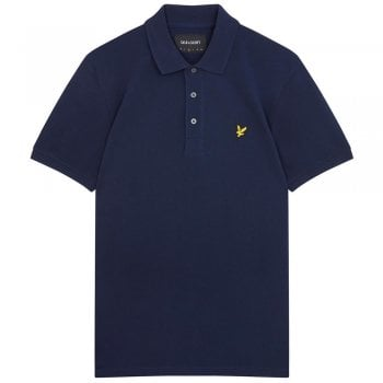 Lyle and Scott Men's Plain Polo Shirt in Navy
