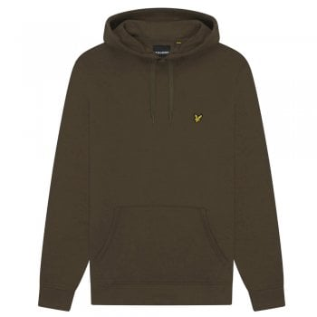 Pull Over Hoodie Sweat in Olive