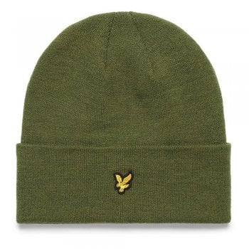 Lyle and Scott Classic Beanie in Olive