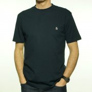 Pin Point Embroidered Logo T Shirt in Dark Sapphire