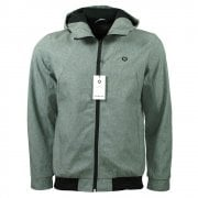 Water Repellent Light Jacket in Light Grey Melange