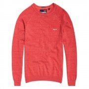 Orange Label Cotton Crew Cannery Red Grit | Superdry
