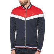 Colour Block Track Top in Lipstick Red