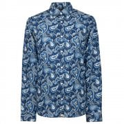 Slim Fit Paisley Print Long Sleeve Shirt