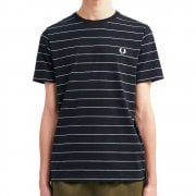 Fine Stripe T-Shirt in Navy