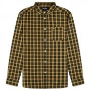 Check Poplin Shirt Caramel/Jet Black Check
