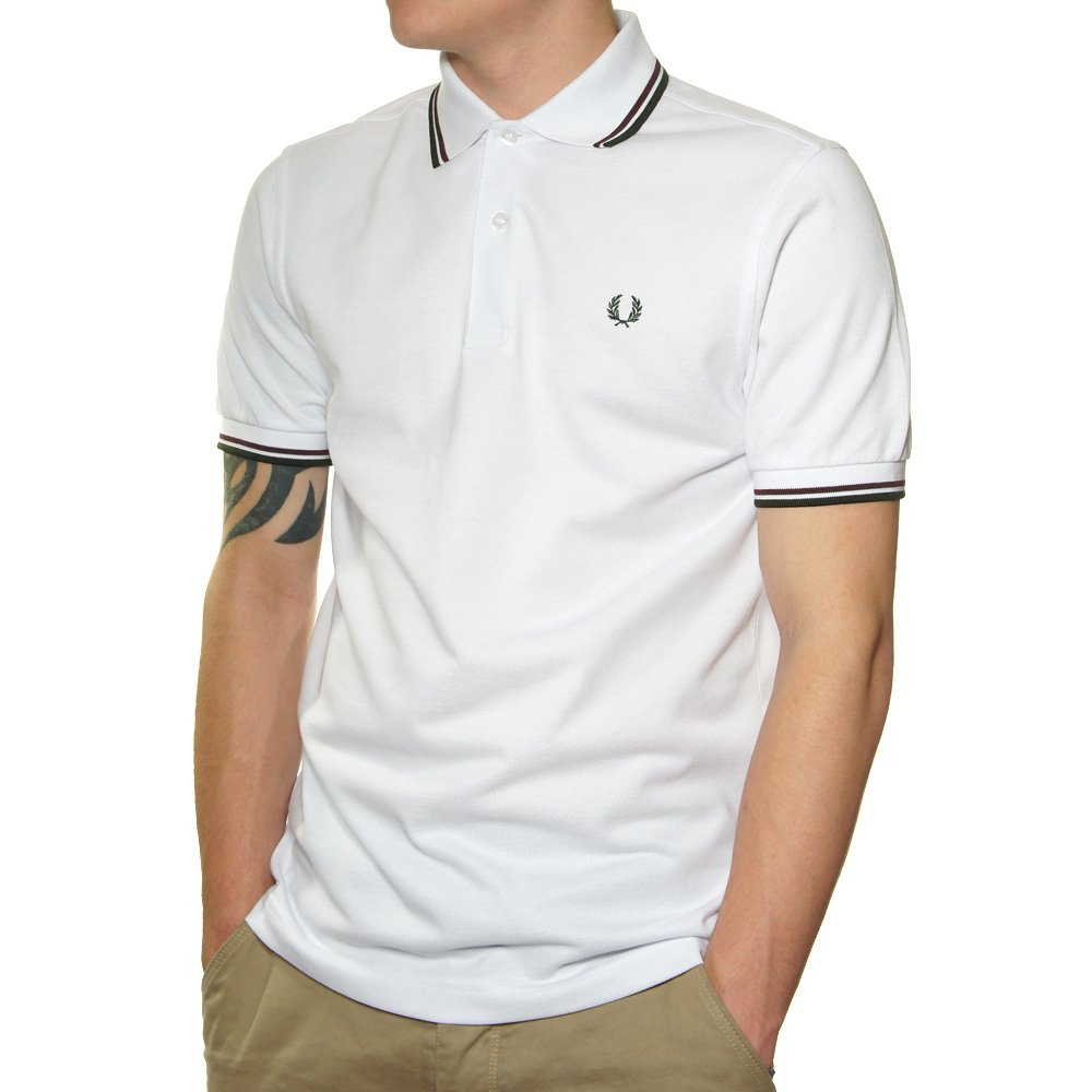 Buy Fred Perry Twin Tipped Polo Shirt In White @ Jonbarrie ...