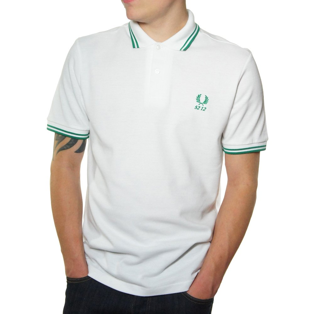 Buy Fred Perry 60 Year Twin Tipped Polo Shirt in White ...