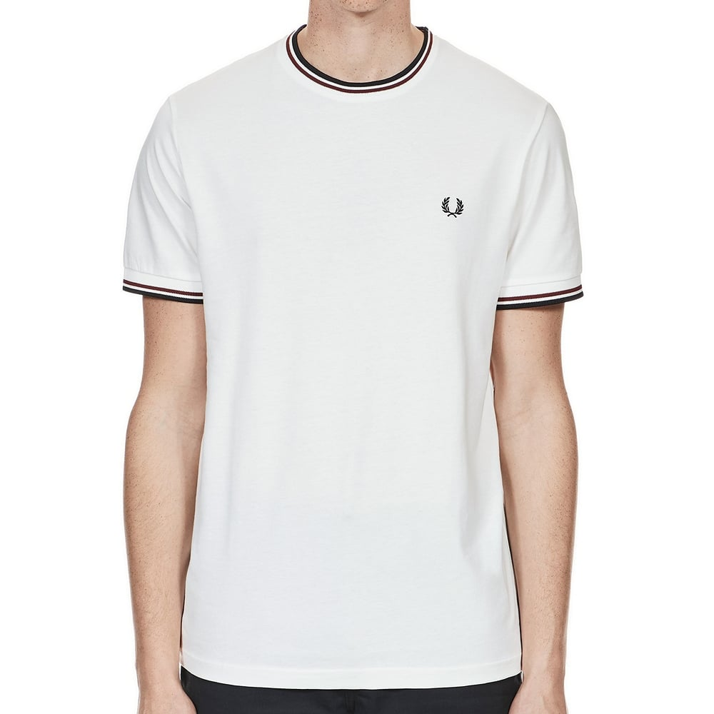 White Fred Perry Twin Tipped T-Shirt